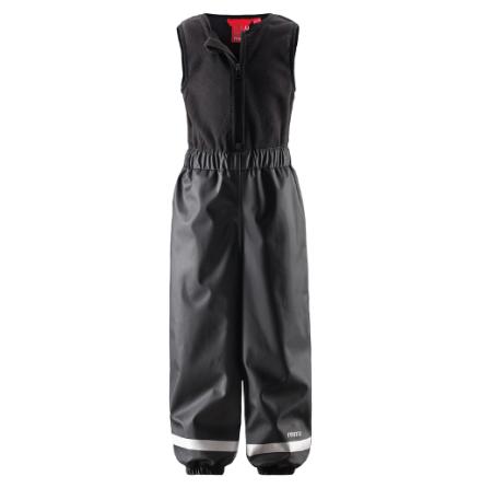 Reima Loiske 522192-9960 Graphite Black regnbukse m/fleecefór