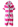 Reima Oahu 584016-3401 Fresh Pink UV-frottèdress