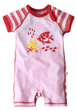 Reima Bowron 516112-3711 Flame Red Bodysuit