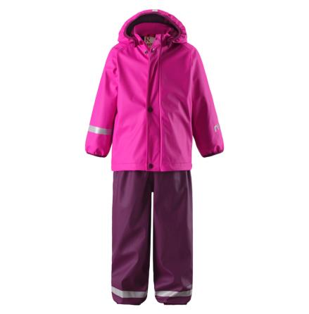 Reima Joki 523094-4620 Pink regnsett m/fleecefór