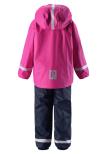 Reima Joki 523108-4620 Pink/Navy regnsett m/fleecefór