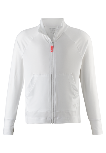 Reima Block 536352-0100 White sports genserjakke