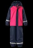 Reima Joki 523108-4410 Candy Pink regnsett m/fleecefór