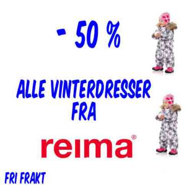 Salg! Reima vinterdresser - 50 % !!