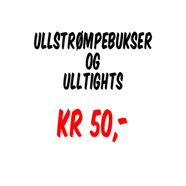 Kun kr 50,-!! Ullstrømpebukser og ulltights